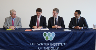Signature d'un MOU avec le Water Institute of the Gulf de Bâton Rouge